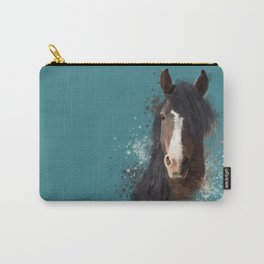 Black Brown Horse Artwork Carry-All Pouch