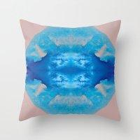 stargate Throw Pillows featuring The Zeta Stargate by katy zimmerman