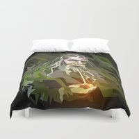 the lord of the rings Duvet Covers featuring THE LORD OF THE RINGS GANDALF by Graphic Craft
