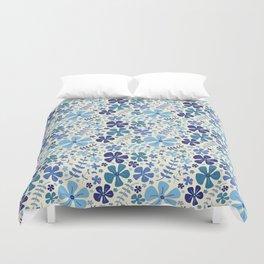 My Little Garden blue & green Duvet Cover