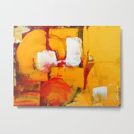 Sun on Fire - Landscape Metal Print