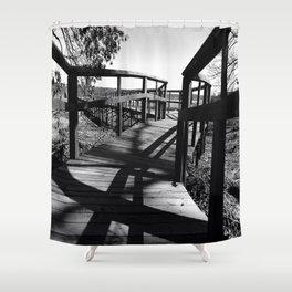Black & White Path Shower Curtain