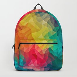 Abstract Color Wave Flash Backpack