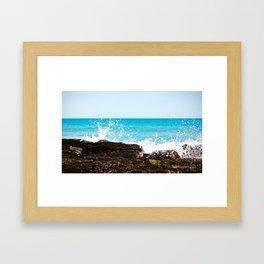 Wild Waves Framed Art Print