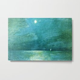 Classical Masterpiece 'Moonlight on the Sound' by Frederick Childe Hassam Metal Print