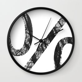 Minimal Percent Sign Print With Photography Background Wall Clock