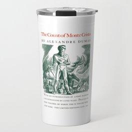 The Count of Monte Cristo Alexandre Dumas Book Cover Travel Mug
