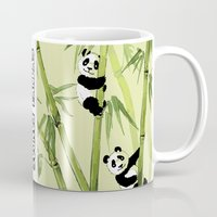 pandas Mugs featuring Pandas by Volha