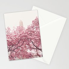New York City - Central Park - Cherry Blossoms Stationery Cards