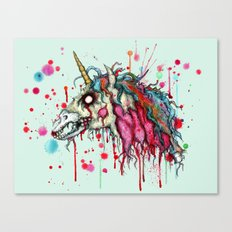 Zombie Unicorn Canvas Print