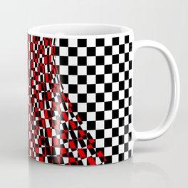 black white red 4 Coffee Mug