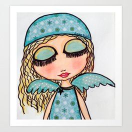 ageliatas de navidad Art Print