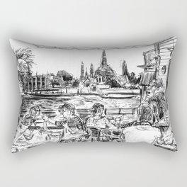 Wat Arun, Sunset Rectangular Pillow