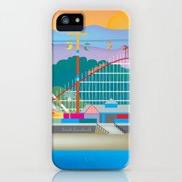 Santa Cruz, California - Skyline Illustration by Loose Petals iPhone Case