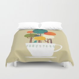 Life in a cup Duvet Cover