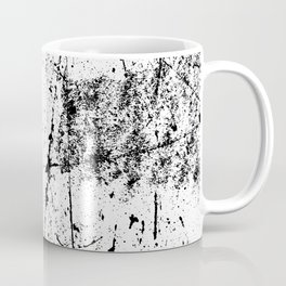 Black and White Modern Art Abstract Paint Splatter Coffee Mug