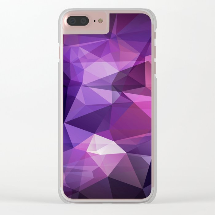 Abstract background of triangles polygon design bright colors Clear iPhone Case