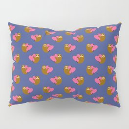 Sloth in love blue Pillow Sham