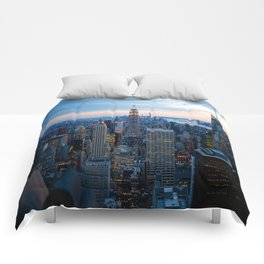 New York City Dusk Comforters