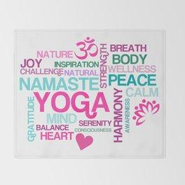 Benefits of Yoga Throw Blanket