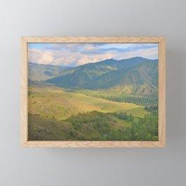 mountain pasture Framed Mini Art Print