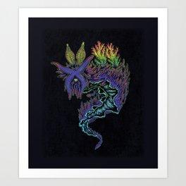 Sea Slug Shaman Art Print