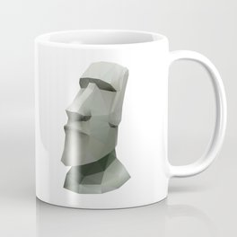 Moai Polygon Art Coffee Mug