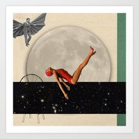diver Art Prints featuring Diver by HumphreyKing