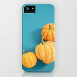 Ornamental gourds on blue iPhone Case