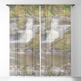 Glenariff Falls Sheer Curtain