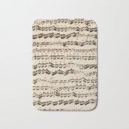 Johann Sebastian Bach (1685 – 1750) original music sheet Bath Mat
