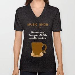 Coffee Coasters — Music Snob Tip #184 Unisex V-Neck