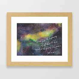 Merely a whisper Framed Art Print