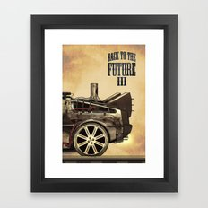 Back to the future III Framed Art Print