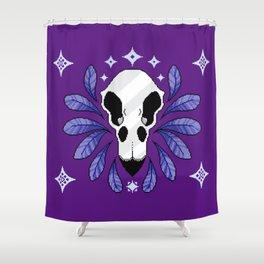 Bird Skull Shower Curtain