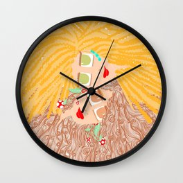 Let your hair out Wall Clock