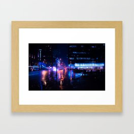 rainy nights in Vancouver Framed Art Print