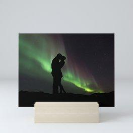 Couple Silouette Mini Art Print