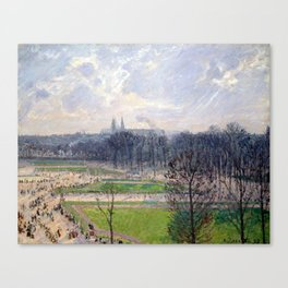 Camille Pissarro The Garden of the Tuileries Canvas Print
