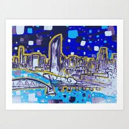 Brisbane City Art Print Art Print