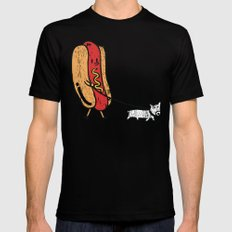Double Dog Mens Fitted Tee LARGE Black