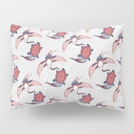 Crane and Tortoise / Tsuru Kame (鶴亀) Pillow Sham