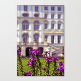 Flowers of castle Nympfenburg Canvas Print