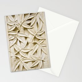 Ivory Leaves Vintage Floral Pattern Stationery Cards