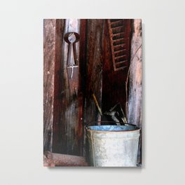 Clippers and the Bucket Metal Print
