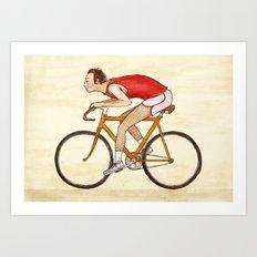 Peludo en bici Art Print