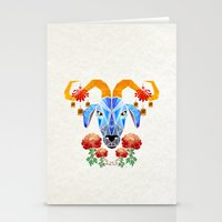 chinese Stationery Cards featuring chinese goat by Manoou