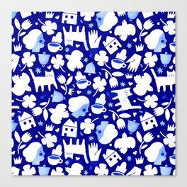 Paper Cut Village Canvas Print