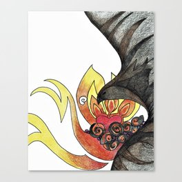 Ash and Flame Canvas Print