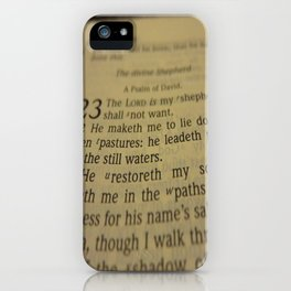 Psalm 23 King James Version iPhone Case